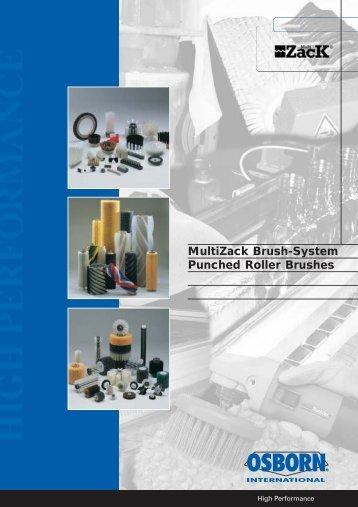 MultiZack Brush-System Punched Roller Brushes - OSBORN ...