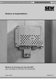 Notice d'exploitation Module de freinage de ... - SEW-Eurodrive