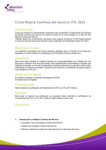 Mejora continua de los Servicios IT2011CSI