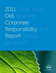 2011: How does Dell steward Corporate Responsibility and Report ...
