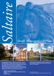 Saltaire World Heritage Site Management Plan - Summary