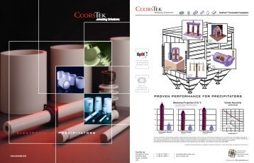 electrostatic precipitators - CoorsTek