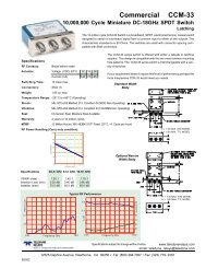 M:\RON\Coax BOOK\Commerical\CCM - Teledyne Relays