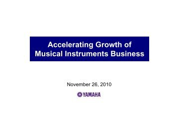 Accelerating Growth of Musical Instruments Business
