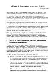 O Círculo de Kaizen para a sustentação do Lean - Lean Institute Brasil