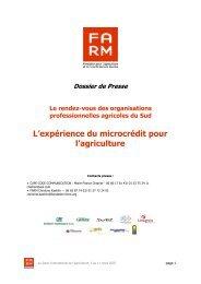 L'expérience du microcrédit pour l'agriculture - Fondation FARM