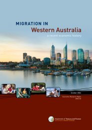 Migration in WA - Department of Treasury