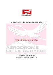 Propositions de menus