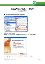 GroupWise-Outlook-IMAP Konfiguration - EDIS