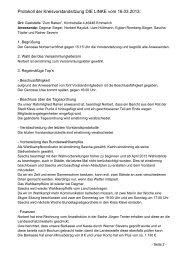 Protokoll der Kreisvorstandsitzung DIE LINKE vom 16.03.2013: