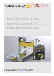 Neue Funktionen in V12 (seit V11) Neue Funktionen ... - Alibre Design