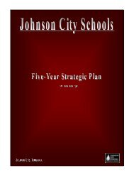 Five-Year Strategic Plan - Johnson City Schools