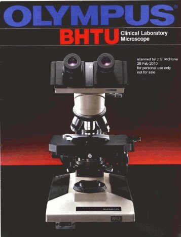 Olympus BHTU Clinical Laboratory Microscope (BH-2) brochure