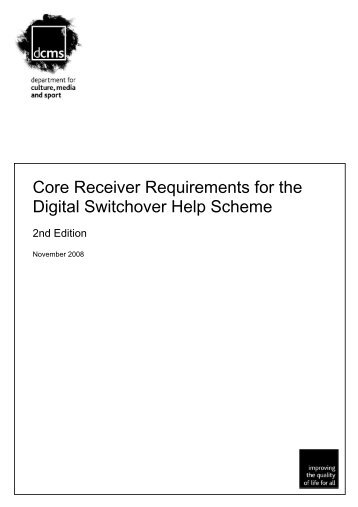 Core Receiver Requirements for the Digital Switchover Help ...