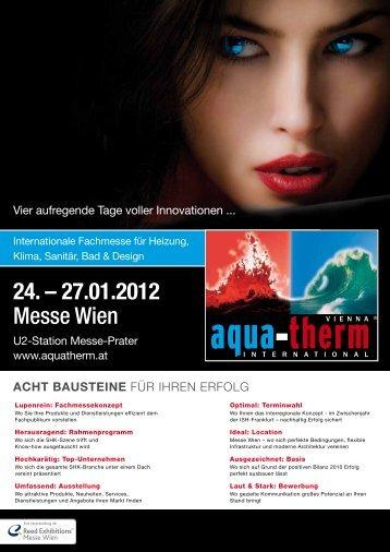 24. – 27.01.2012 Messe Wien - Aquatherm Vienna 2014