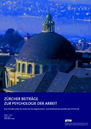 Neue Pfade im Denken über Führung - PdA - ETH Zürich