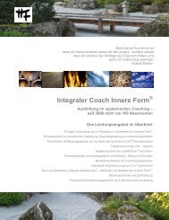 Integraler Coach Innere Form - Institut Innere Form