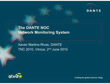 The DANTE NOC Network Monitoring System