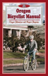 Oregon Bicyclist Manual - State of Oregon