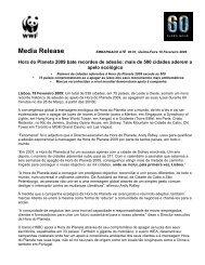 Hora do Planeta 2009 bate recordes de adesão - WWF