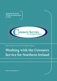 Working with the Coroners Service for Northern Ireland (PDF).