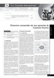 Elementos sustanciales de una operación de Comercio Exterior