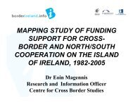 mapping study of funding support for cross- border and north/south ...