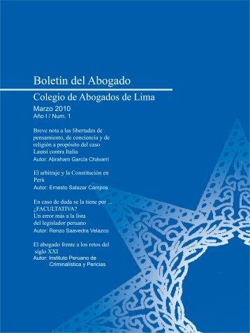 Boletín del Abogado - Colegio de Abogados de Lima