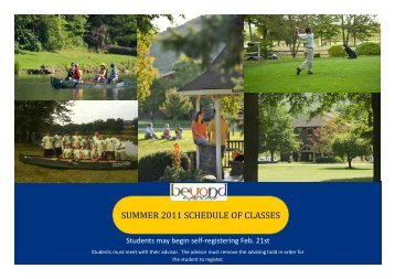 summer 2011 schedule of classes - University of Pittsburgh Bradford