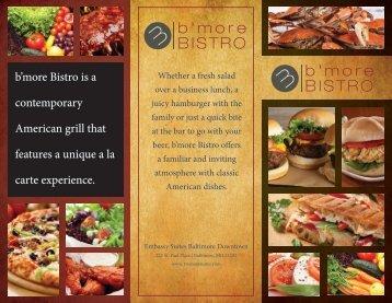 B'More Bistro Menu (PDF) - Embassy Suites