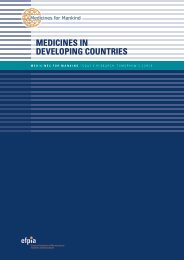 MEDICINES IN DEVELOPING COUNTRIES - Medicines for Mankind