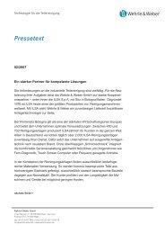 Pressetext - Wehrle & Weber GmbH