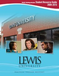 Adult Undergraduate Student Resource Guide ... - Lewis University