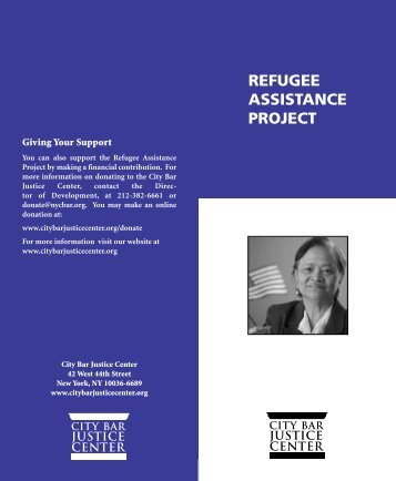 REFUGEE ASSISTANCE PROJECT - New York City Bar Association