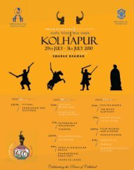 KOLHAPUR KOLHAPUR - Directorate of Film Festivals