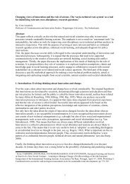Changing views of innovation and the role of ... - Transitiepraktijk