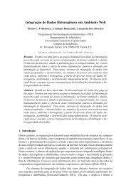 Integração de Dados Heterogêneos em Ambiente Web - CoDIMS