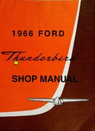 DEMO - 1966 Ford Thunderbird Shop Manual - ForelPublishing.com