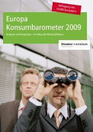 Europa Konsumbarometer 2009 - L'Observatoire Cetelem