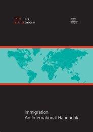 Immigration An International Handbook - Ius Laboris