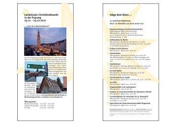 Landshuter Christkindlmarkt in der Freyung 25.11 ... - Tritonus Brass