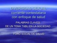 Diversidad sexual: corriente contestataria con enfoque de ... - CISAS