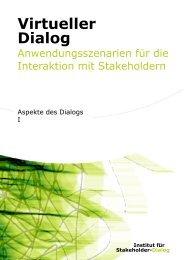 Virtueller Dialog – Aspekte des Dialogs 1 - Institut für Stakeholder ...