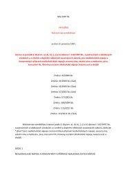 vyhláška č. 335/1997 Sb., kterou se provádí § 18 písm. a), d), h), i), j ...