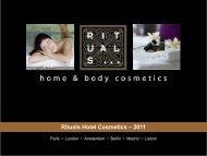 Rituals Hotel Cosmetics – 2011 - Trinco