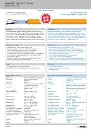 KAWEFLEX® 5221 SK C PUR cUL SERVO 0,6/1 kV - TKD-KABEL ...