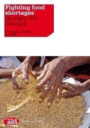 Fighting food shortages Hungry for change - Christian Aid