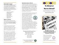 SHREDDING brochure - Somerset County