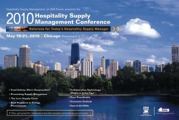 2010 Hospitality Supply Management Conference - May 19-21 ...