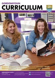 Sixth Form Curriculum here - Gordonstoun